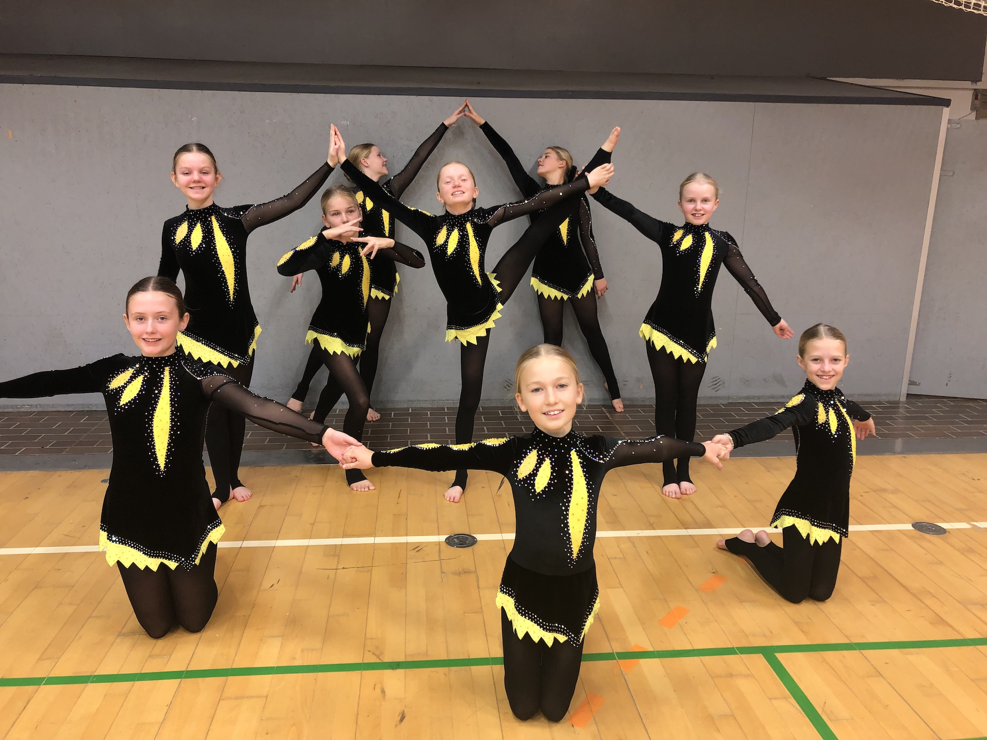 Rhythmic Gymnastics Leotards for Sofie's team from Denmark