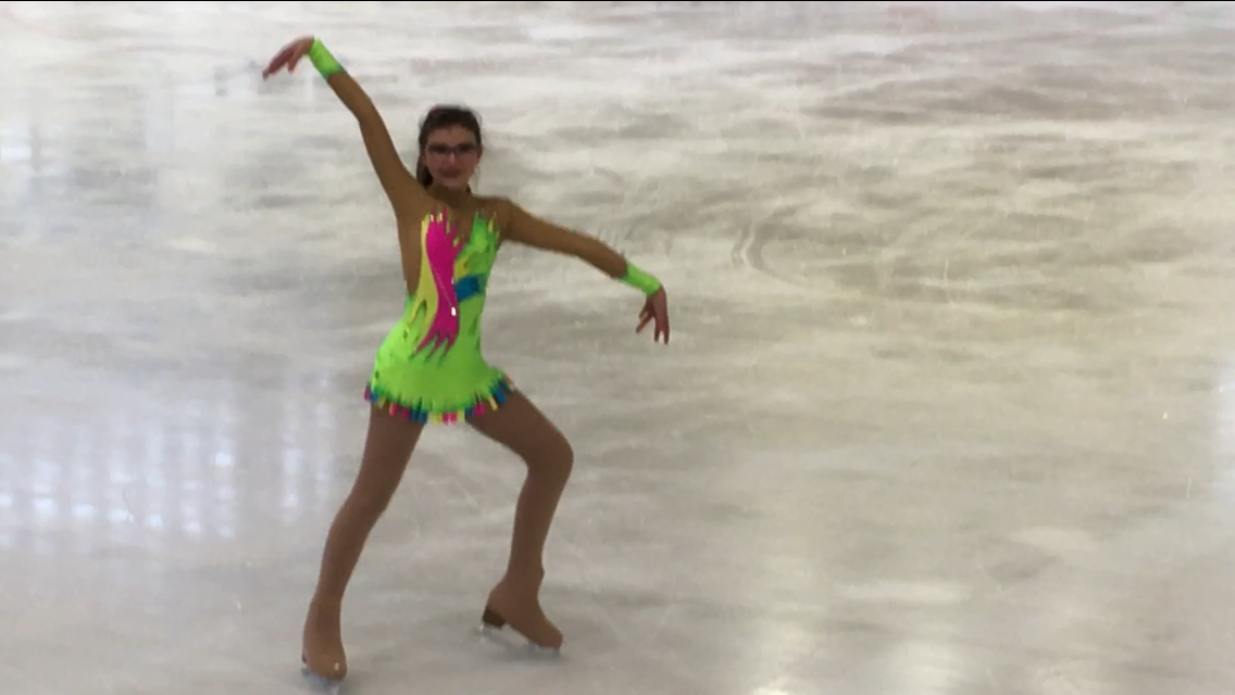 Ice Figure Skating leotard for Isabelle from France