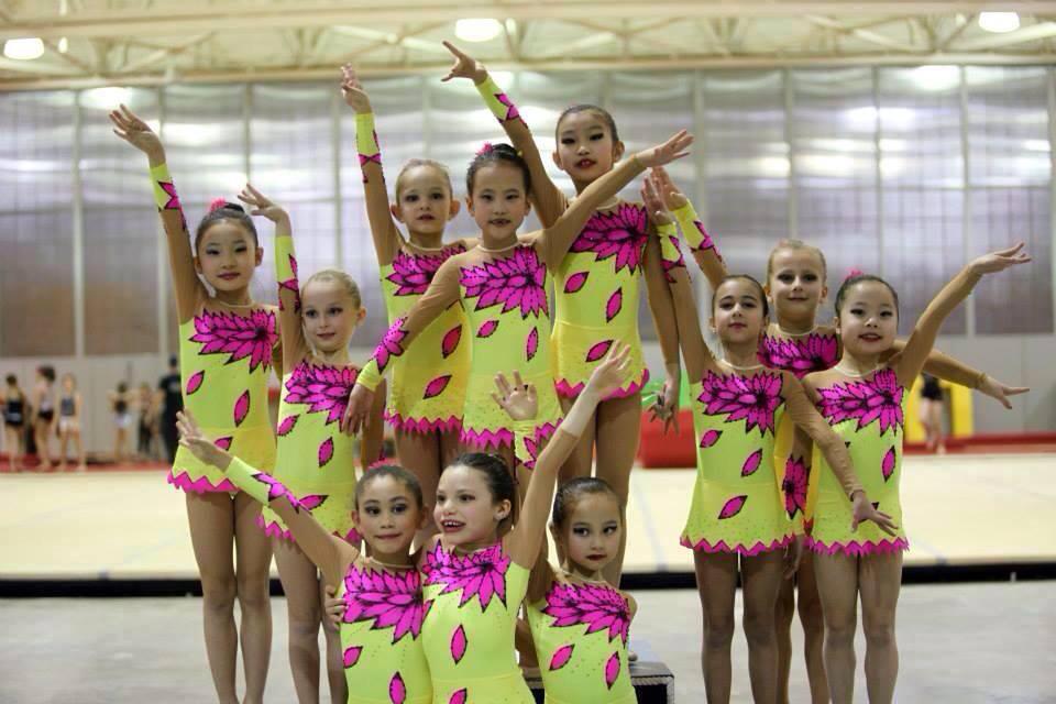 Rhythmic Gymnastics Training Costumes for Natalia's team from USA