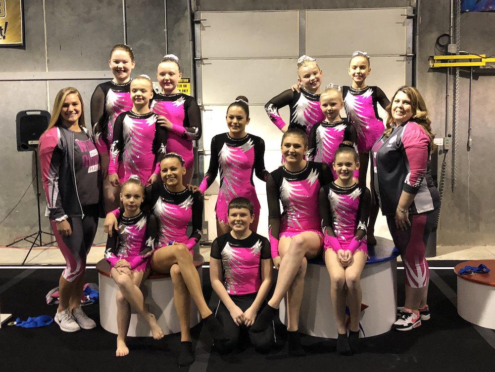 Rhythmic Gymnastics Leotards for Carrie's team from USA