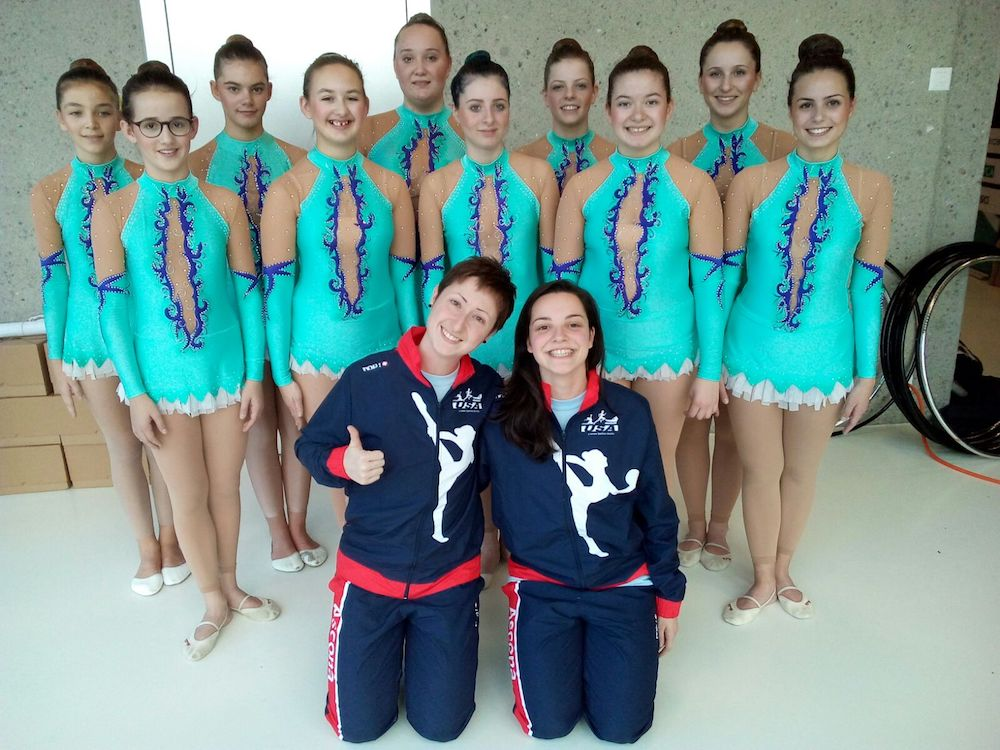Rhythmic Gymnastics Leotards for Stephania's team in Switzerland