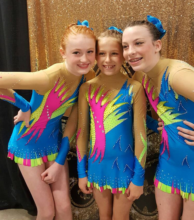 Costumes for Acrobatic Gymnastics trio from USA