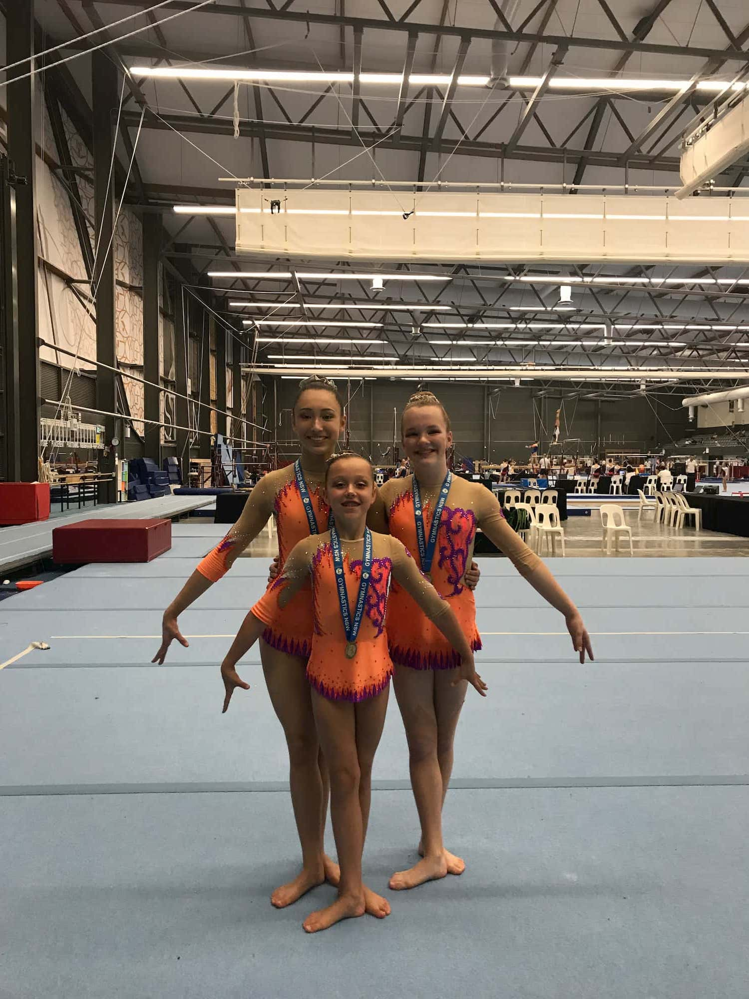 Acrobatic Gymnastics Leotards for Trio from Australia