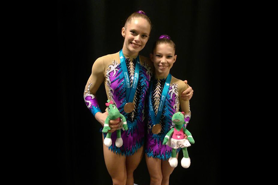 2 Acrobatic Gymnastics Leotards for Daisy & Katie from Australia