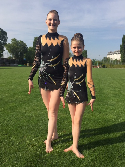 Rhythmic Gymnastics Leotards for Filippa & Isabell from Austria