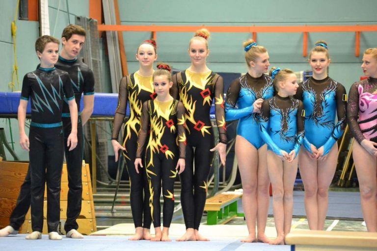 Acrobatic Gymnastics Trio Costumes by Modlen